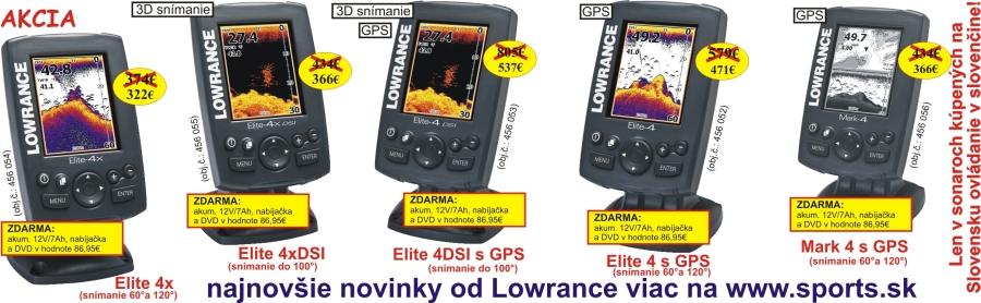 13e3c11f0 Lowrance najlacnejší farebný sonar už od 322€!!! Nepremeškajte ponuku  vybraných zlacnených mdelov.